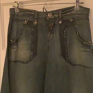 Replay vintage denim long skirt